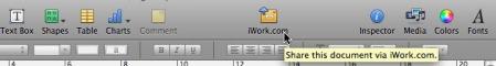 iwork menubar