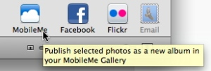mobileme on iphoto