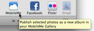 mobileme on iphoto