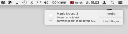 magic mouse 2 tilkobl